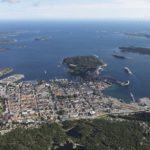 Flyfoto Kristiansand en sommerdag i august