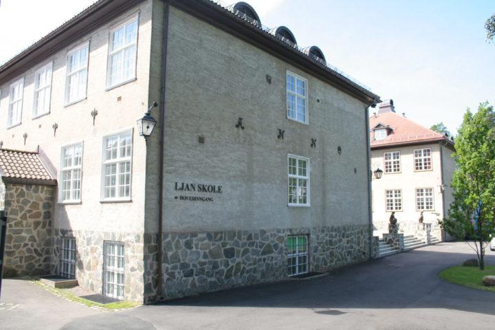 Fasadebilde av Ljan skole