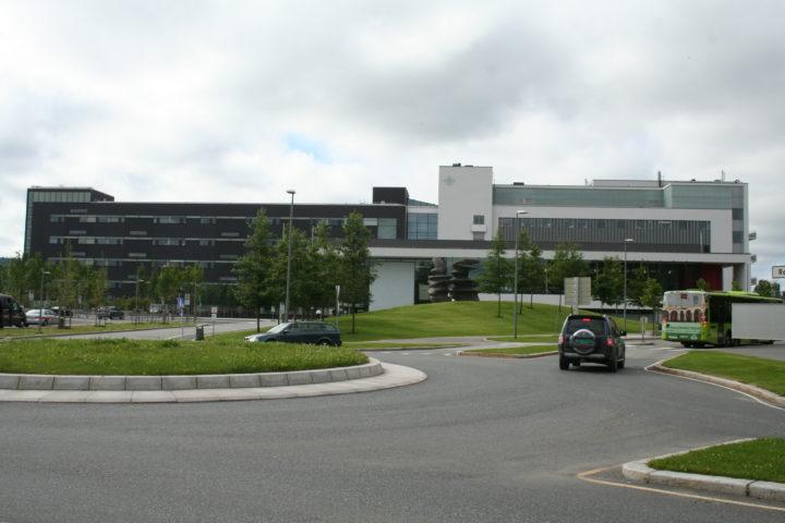 Fasadebilde nye Ahus sykehus
