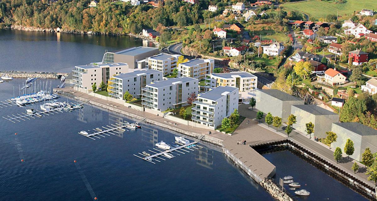 Oversiktsbilde illustrasjon OS sjøfront boligprosjekt