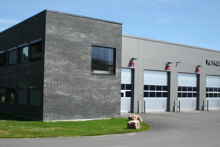 Fasadebilde Røyken brannstasjon