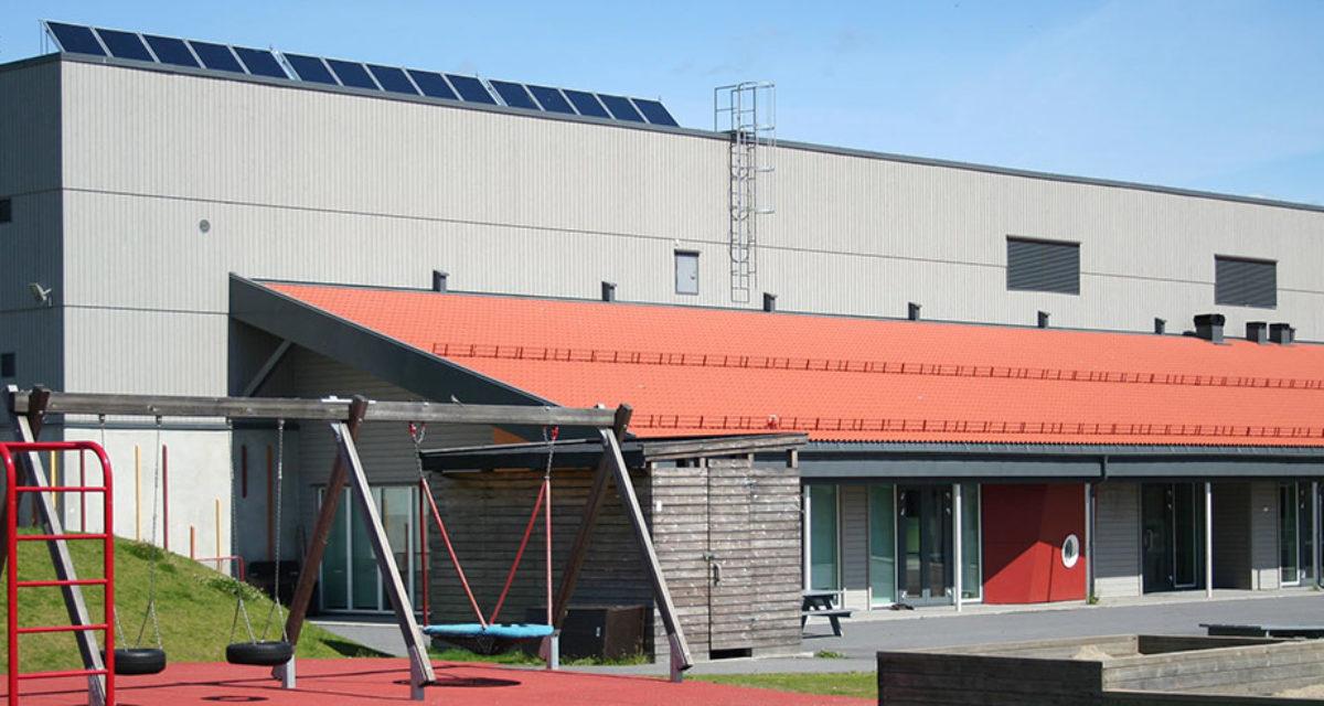 Fasadebilde Skoger skole i Drammen