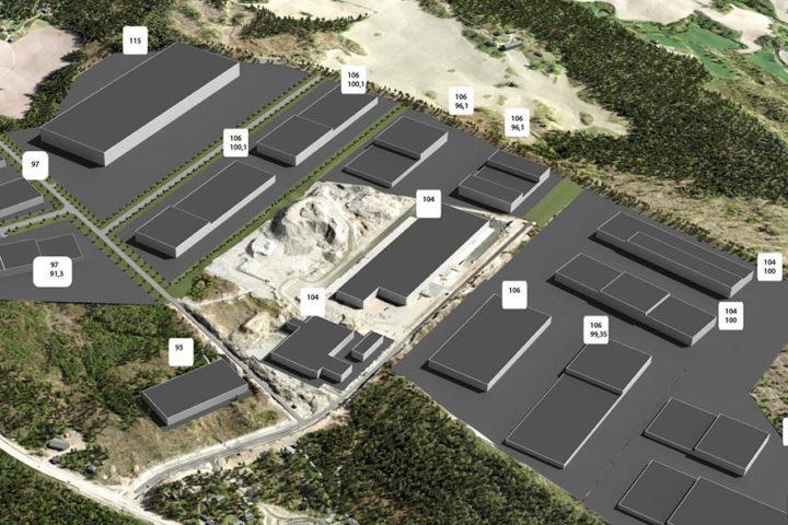 Oversiktsbilde illustrasjon Vestby industriområde