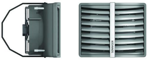 Produktbilde: Heater luftvifte forfra og fra siden