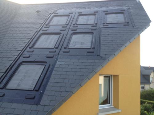 GSE Integrasjonsplater for solceller montert på tak