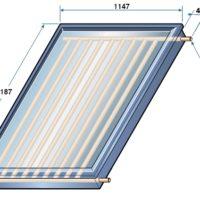 Teknisk tegning CH250 solfanger