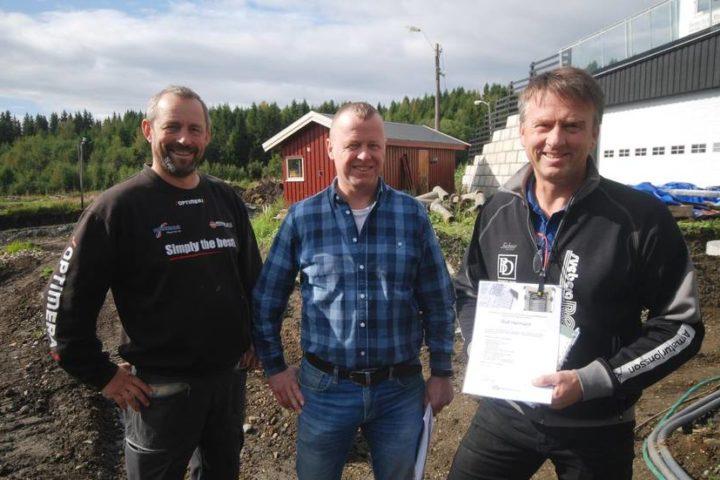Rolf Hermann fra Sveberg Rør AS vant konkurranse – gir varmeanlegget til Stiklestad IL