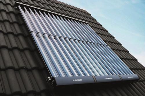 Tubo II vakuumrør solfanger på tak