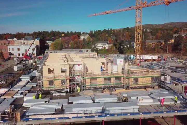Oversiktsbilde av Alta omsorgssenter i byggeprosess