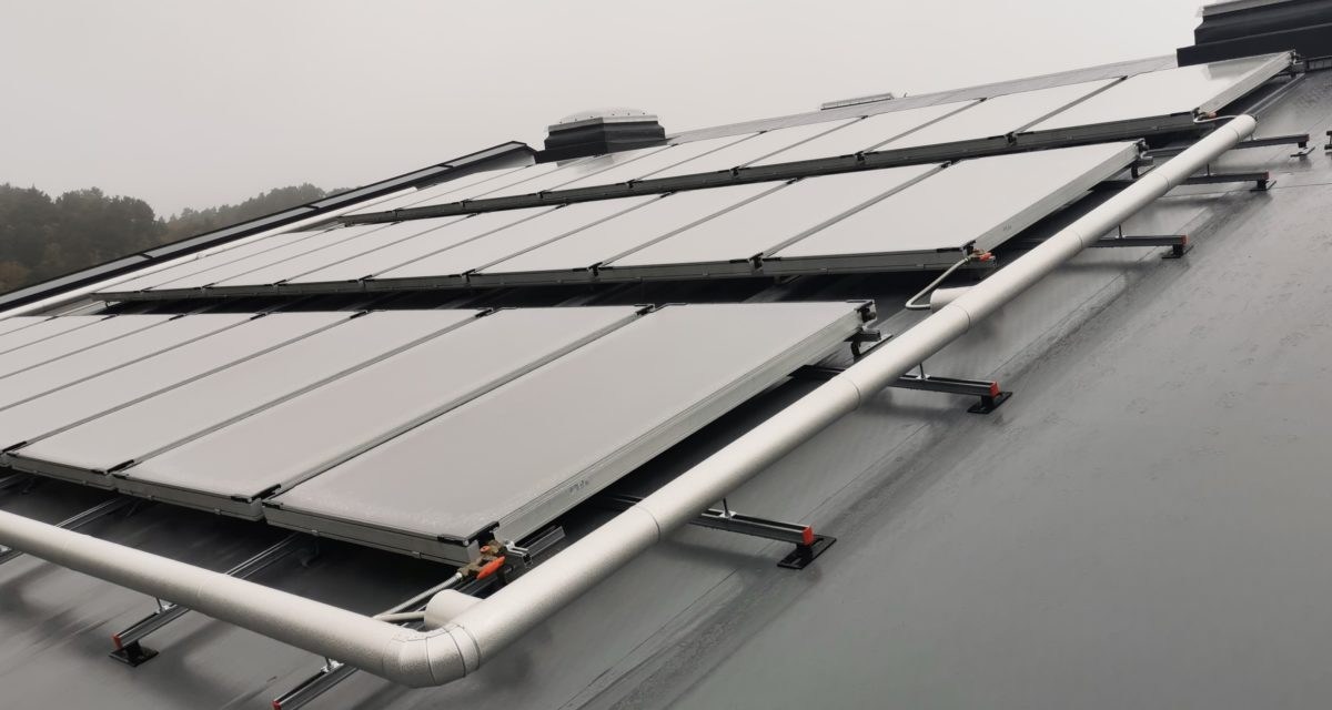 Egeland Rør installerte solcelleanlegg på Vassmyra ungdomsskole